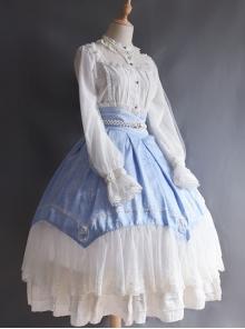Vintage Jacquard Big Hem Classic Lolita Palace Style Skirt