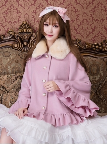Cute Fur Collar Classic Lolita Short Woolen Coat