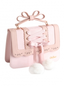 Silk Ribbon Lace-up Cute Classic Lolita Shoulder Bag
