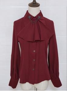 Lapel Retro Gothic Lolita Elegant Long Sleeve Shirt