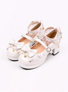 Bowknot Classic Lolita Stars Pendants Heel Shoes