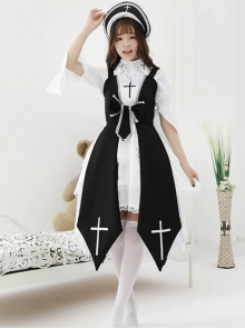 Cross Witch Gothic Lolita Dress And Shirt And Hat Set