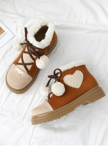 Brown Sweet Lolita Suede Short Martin Boots