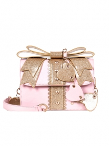 Gift Box Shape Sweet Lolita Sequin Bowknot Shoulder Bag