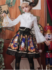 Time Machine Heart Series SK Retro Printing Classic Lolita Skirt