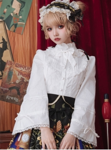 High Collar Classic Lolita Ruffle Long Sleeve Shirt