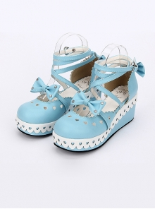 Round-toe Cute Lace Bowknot Sweet Lolita Shoes