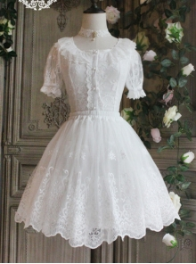The Poetry Of Roses Series Lace Yarn Skirt Classic Lolita Short Petticoat